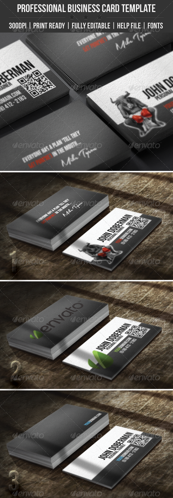 GraphicRiver Fight Club Business Card 4505796