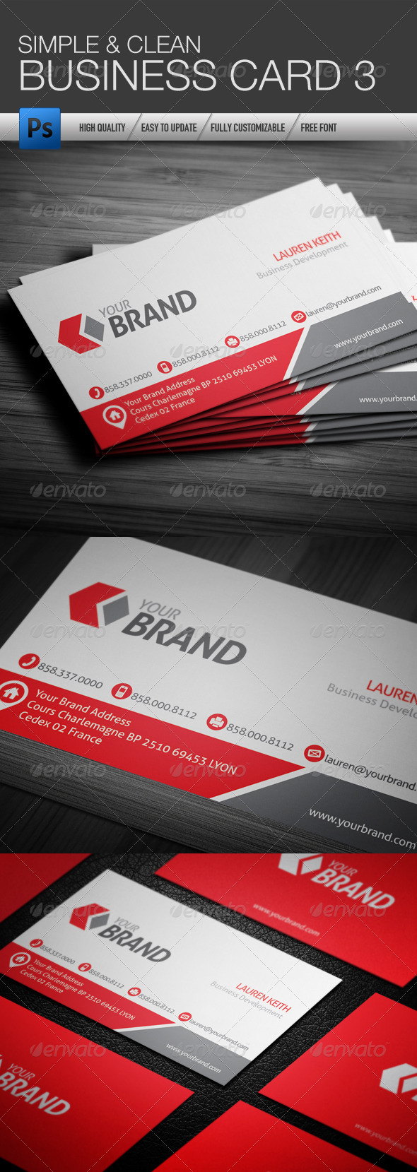 GraphicRiver Simple and Clean Business Card 3 4505825