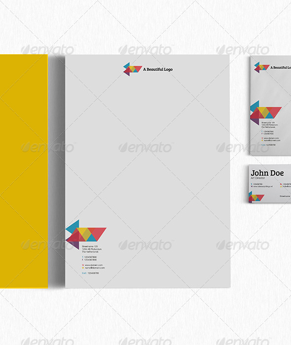 GraphicRiver Very Clean and Colorful Corporate Identity 4505836