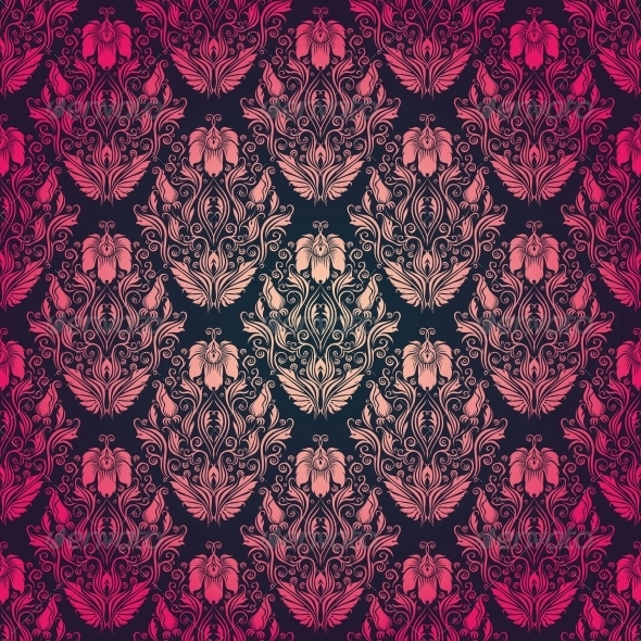 GraphicRiver Damask Seamless Floral Pattern 4506006