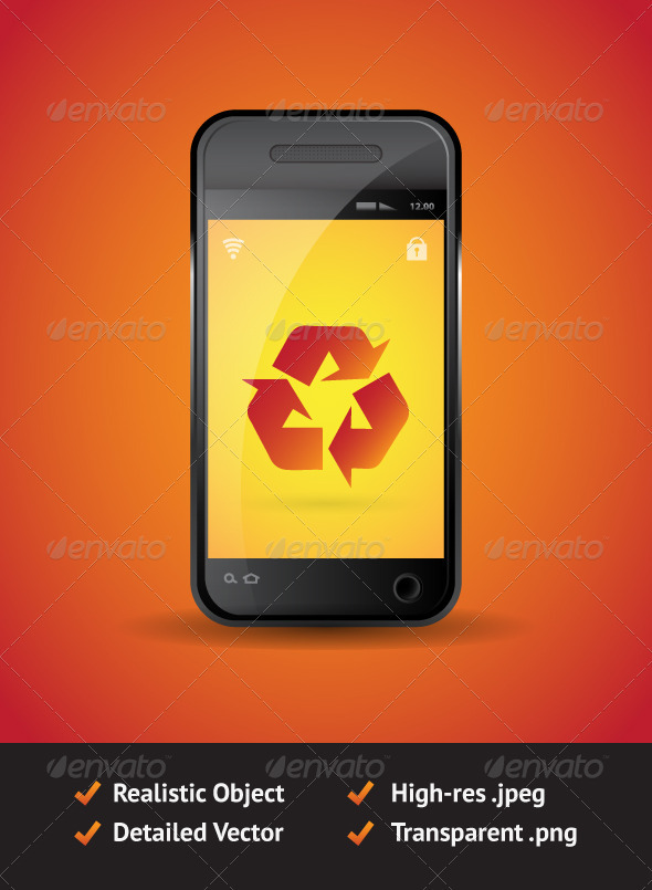 Vector Smart Mobile Phone - Objects Vectors