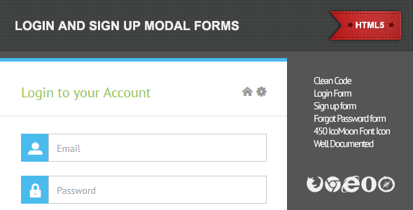 CodeCanyon Login & Sign Up Modal Forms 4506434