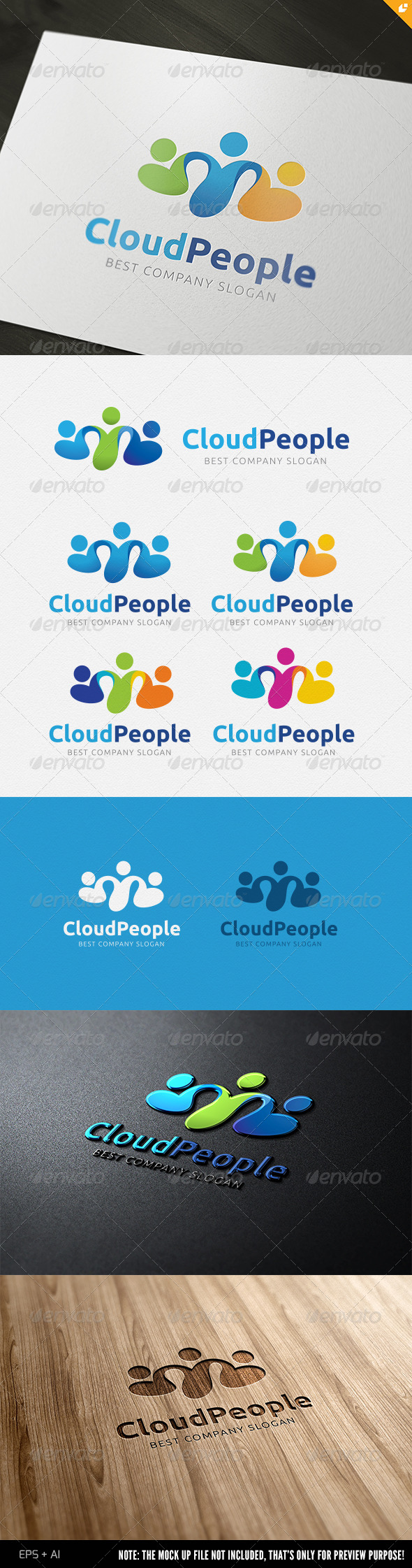 GraphicRiver Cloud People Logo 4506442