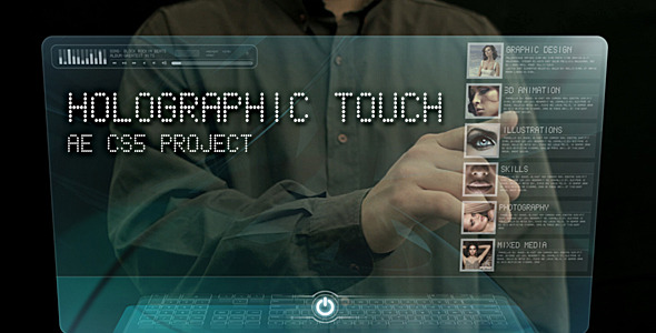 After Effects Project - VideoHive Holographic touch 477388