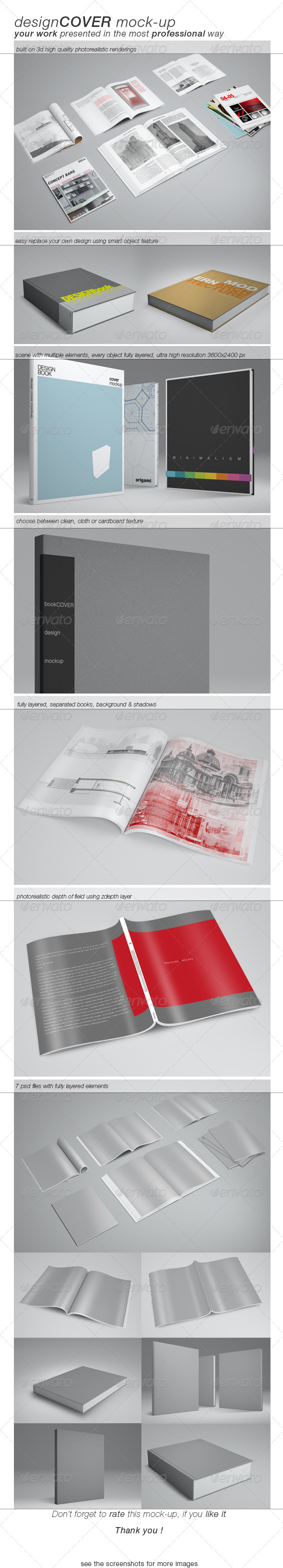 GraphicRiver Book Cover Mock-up 4507265