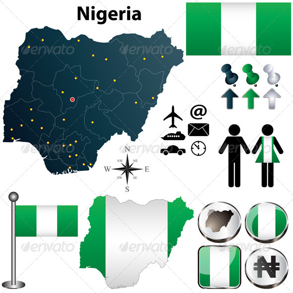 GraphicRiver Nigeria Map with Regions 4507590