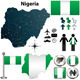 Nigeria Map with Regions - GraphicRiver Item for Sale