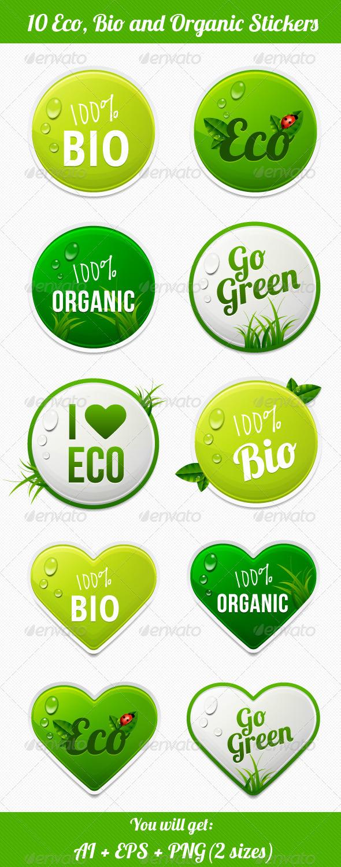 GraphicRiver Eco Stickers 4447813