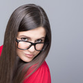 Beautiful businesswoman wearing black nerd glasses - PhotoDune Item for Sale