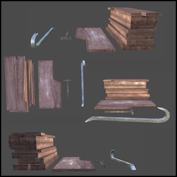 Woodcutter Set - 3DOcean Item for Sale
