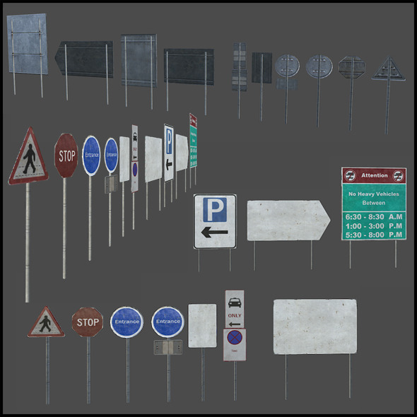 3DOcean Traffic Signs 4508200