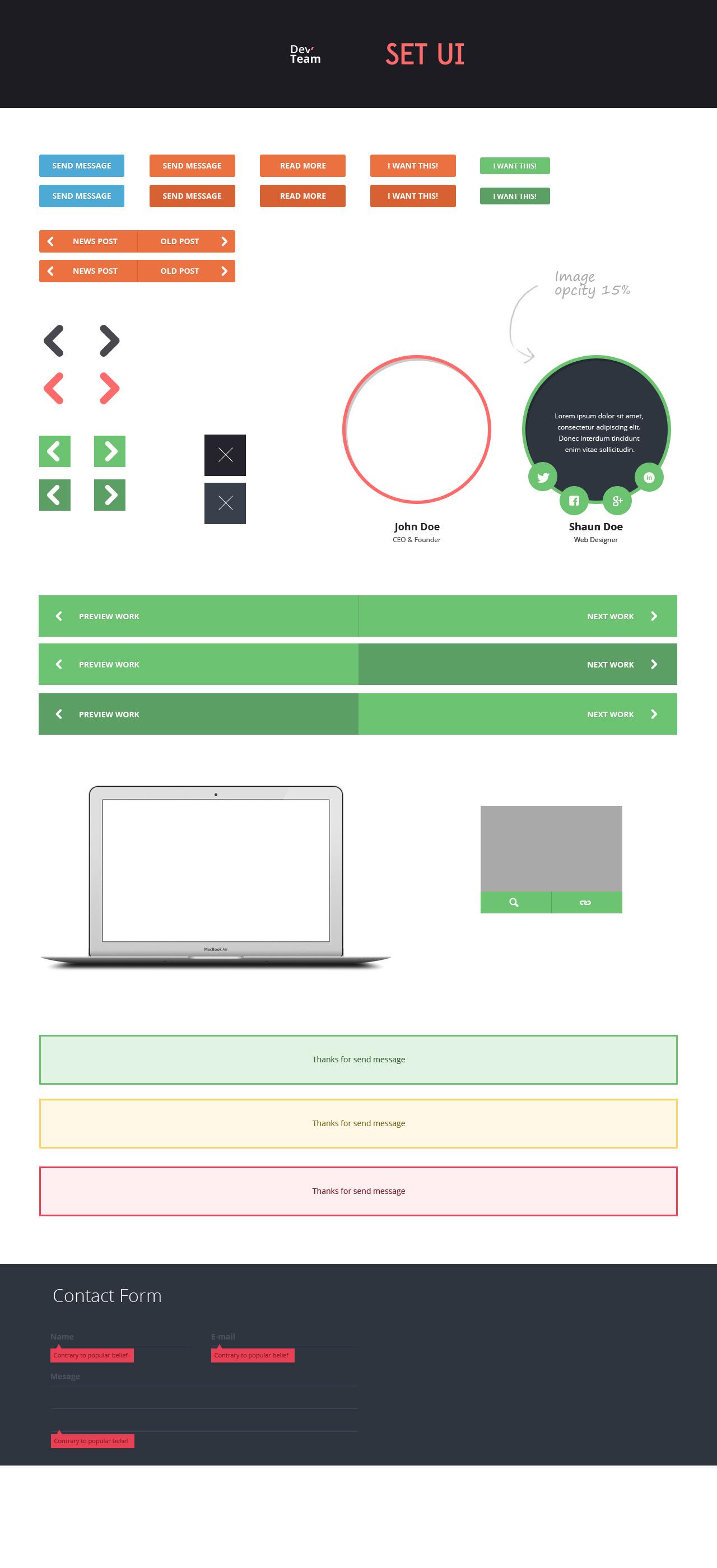 DevTeam - One Page PSD