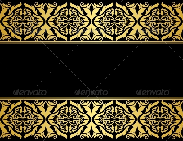 GraphicRiver Floral Borders with Gilded Embellishments 4508614