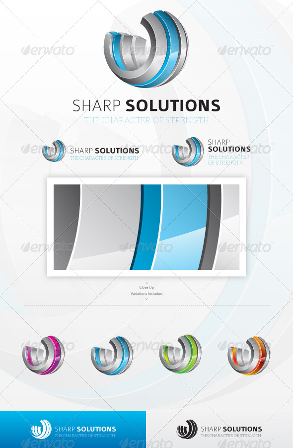Sharp Solutions Logo - 3d Abstract