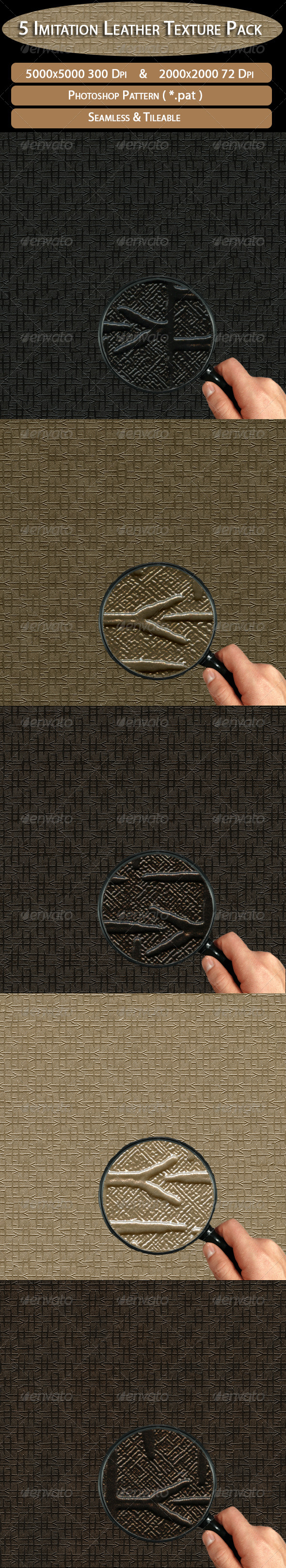GraphicRiver 5 Imitation Leather Texture Pack 4508624