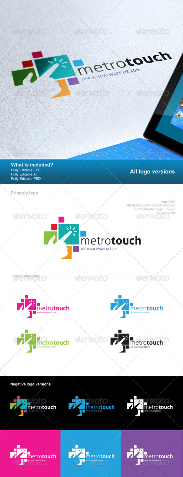 Metro Touch Logo - Logo Templates