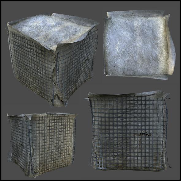 Sand Barrier Bag - 3DOcean Item for Sale