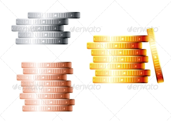 GraphicRiver Stacks of Coins 4508646