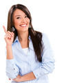 Business woman pointing an idea - PhotoDune Item for Sale