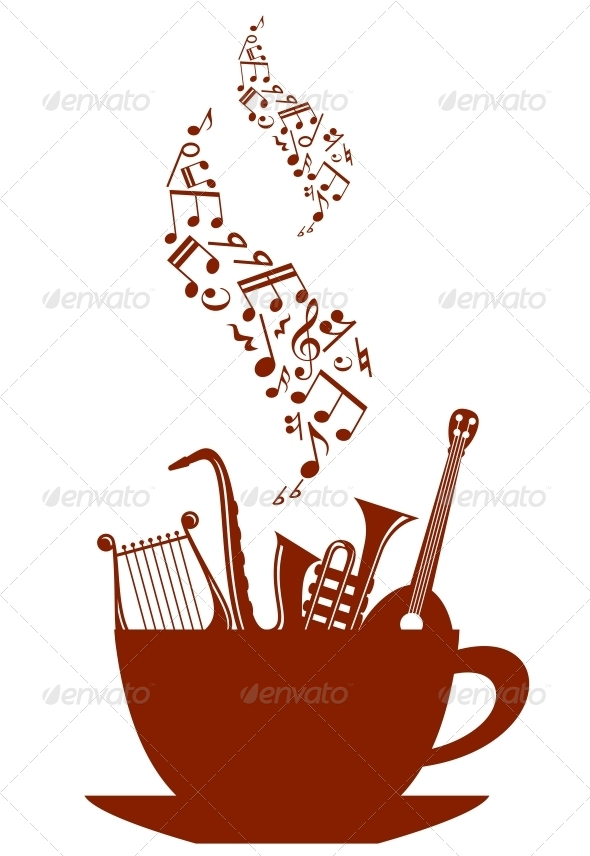 GraphicRiver Musical Cup of Tea or Coffee 4508667