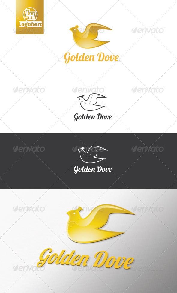 GraphicRiver Golden Dove logo Template 4419933