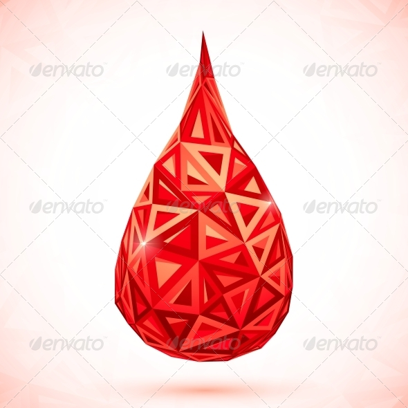 GraphicRiver Abstract Triangles Vector Drop of Blood 4508812