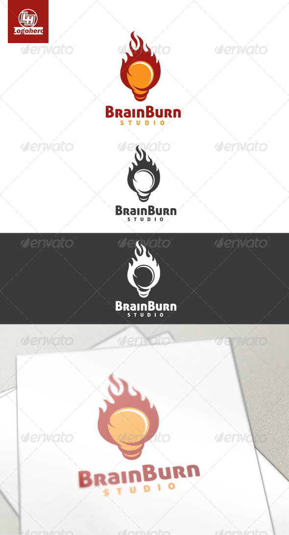 GraphicRiver Brain Burn Logo Template 3400568