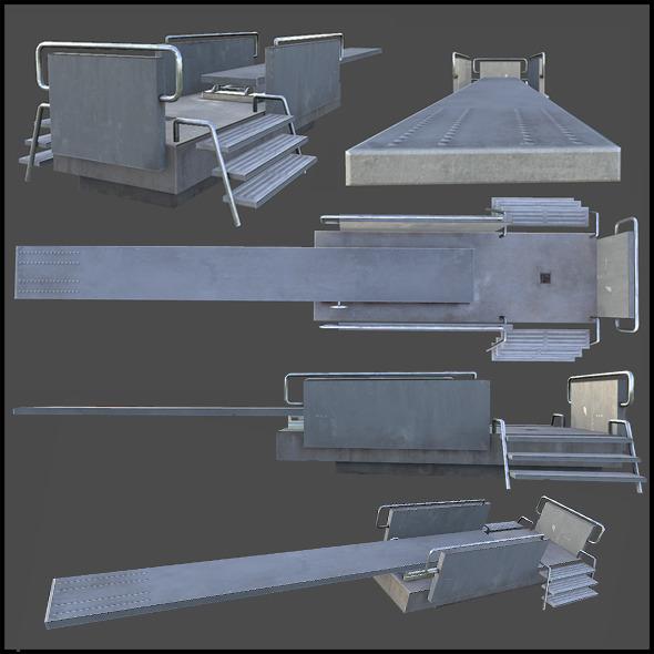 Pool Jump Board - 3DOcean Item for Sale