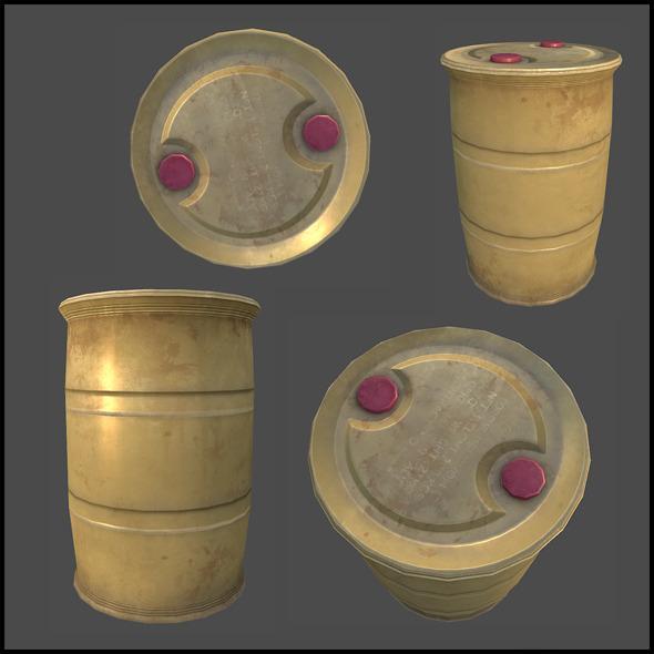 Plastic Drum - 3DOcean Item for Sale