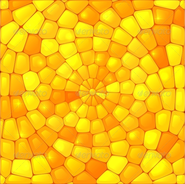 Yellow Abstract Stained Glass Mosaic Background