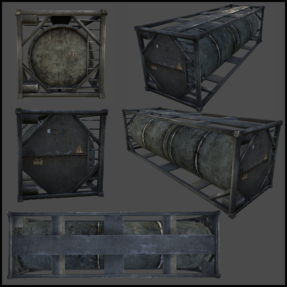 Oil Tank - 3DOcean Item for Sale
