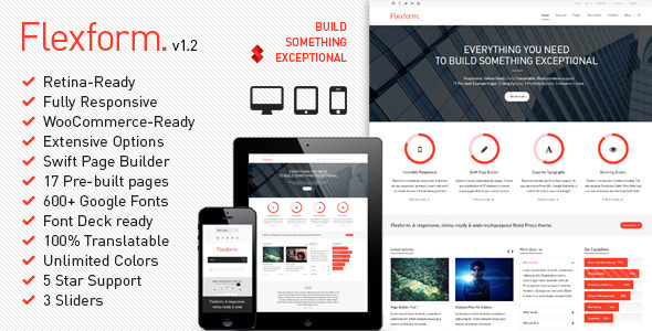 Responsive retina WordPress theme