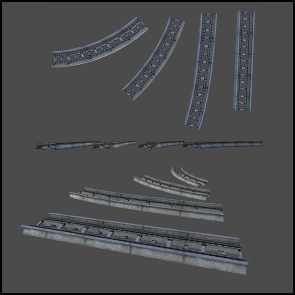 3DOcean Monorail tracks 4508892