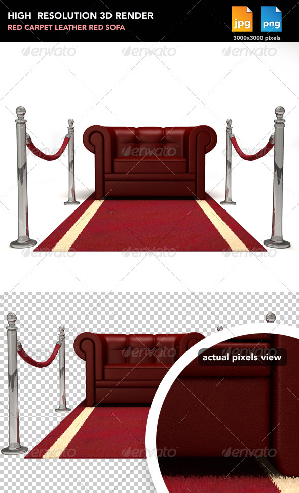 GraphicRiver Red Sofa on Red Carpet 477539
