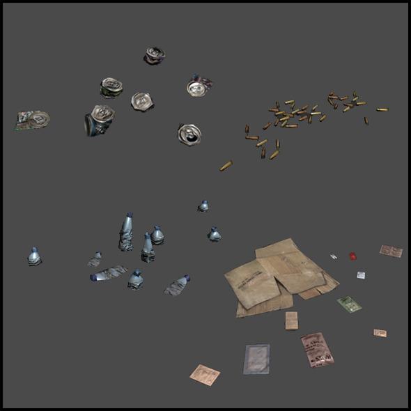 3DOcean Litter Clusters 4508895
