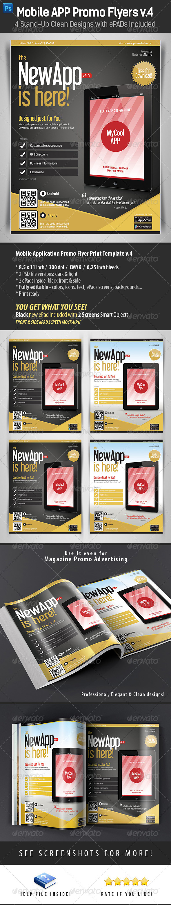 GraphicRiver Mobile App Flyers Template v.4 4508896