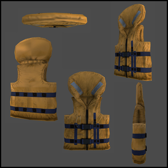 Life Jacket - 3DOcean Item for Sale