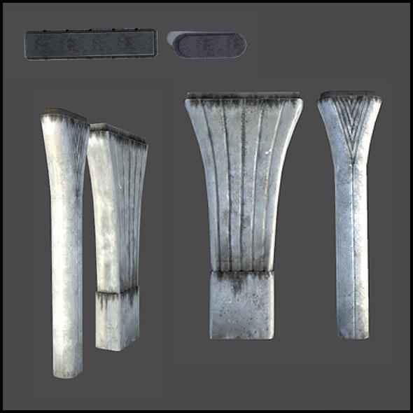 Highway Pillars - 3DOcean Item for Sale