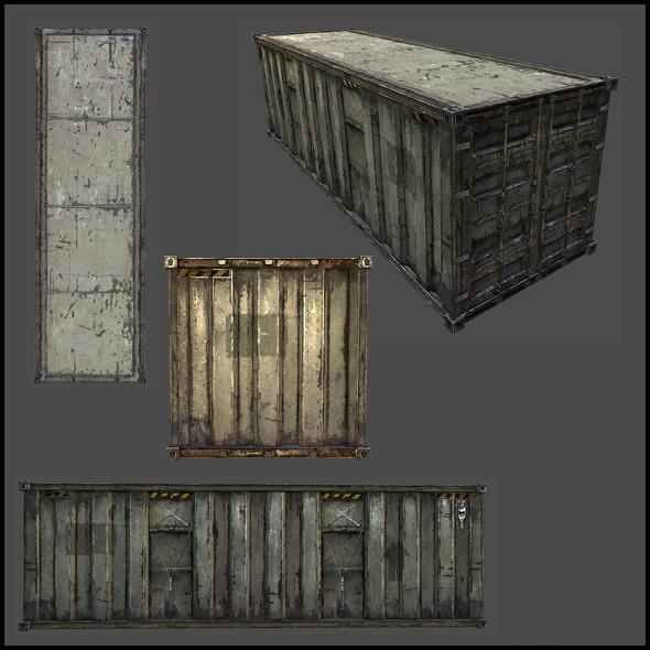 3DOcean Cargo Container 4508935
