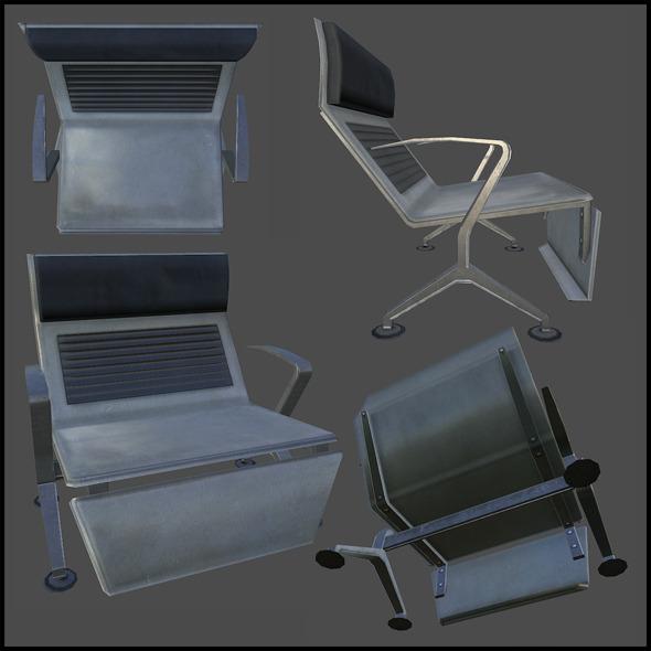 3DOcean Bus Terminal Seat 4508986