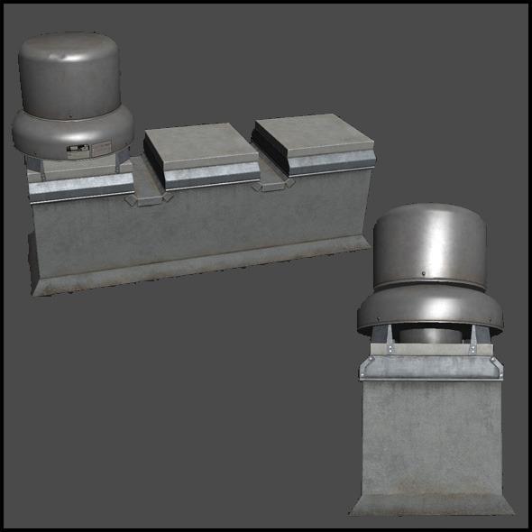 Building Roof Ventilation - 3DOcean Item for Sale