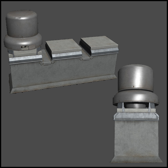3DOcean Building Roof Ventilation 4509037