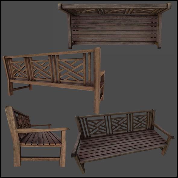 3DOcean Wooden Bench 4509067