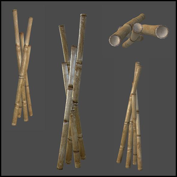 Bamboo Arrangement - 3DOcean Item for Sale
