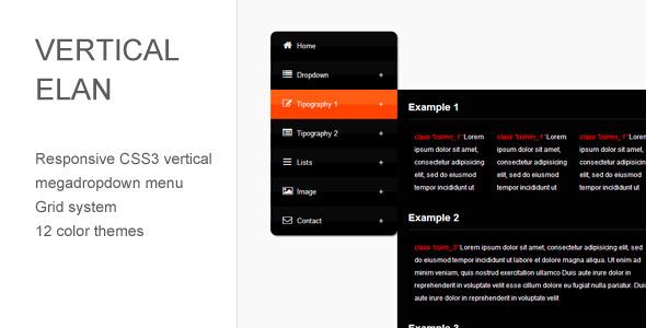 CodeCanyon Vertical Elan Responsive CSS3 Vertical Menu 4508770
