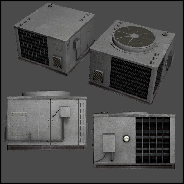 Large Air Conditioner Unit - 3DOcean Item for Sale