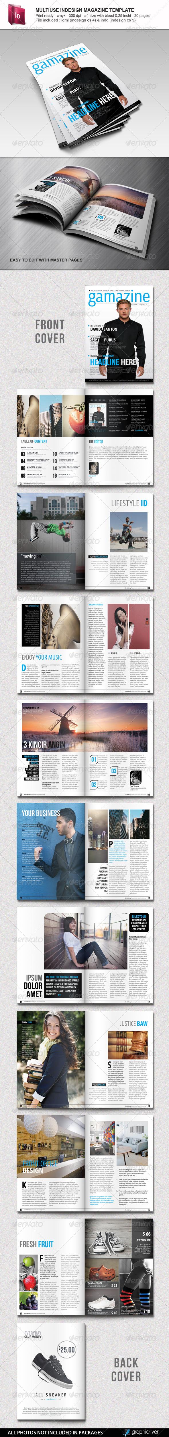 GraphicRiver Multiuse Indesign Magazine Template 4421136