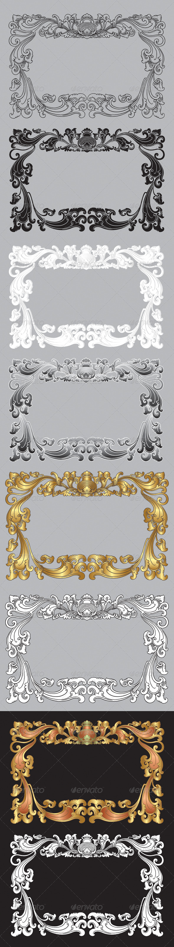 Balinese Ornament Frame 2 - Flourishes / Swirls Decorative