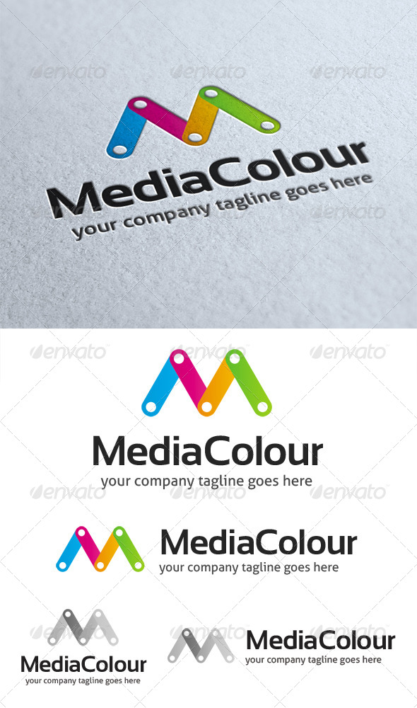 GraphicRiver Media Colour Logo 4509375