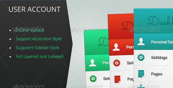 GraphicRiver User Account Menus 4432208